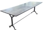 rectangular zinc top round dining table