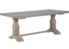 rectangular zinc top round dining table uk