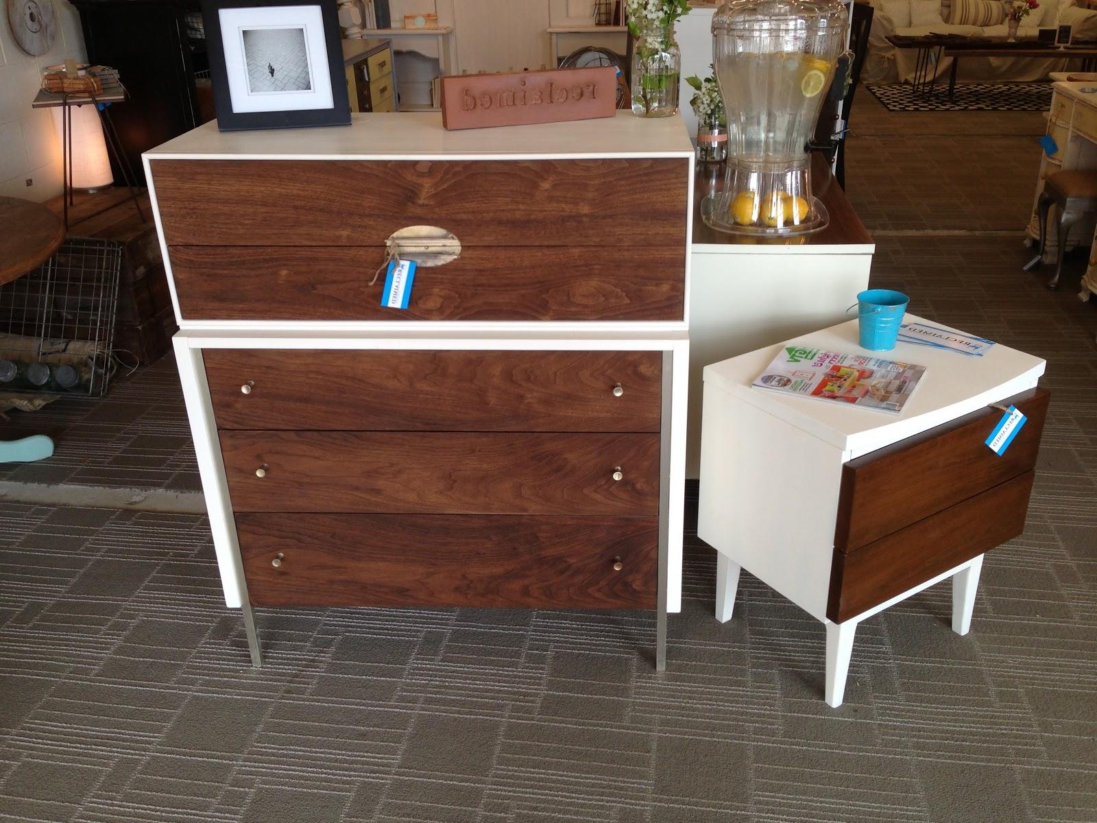refurbished mid century furniture drawers