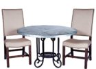 round zinc top round dining table furniture set