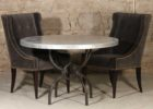 round zinc top round dining table set