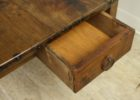 rustic cherry wood coffee table with drawers