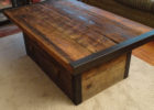 rustic dark wood chest coffee table