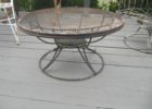 rustic round mid century patio furniture for sale