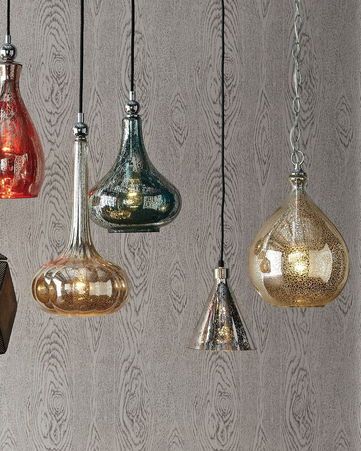 shades mercury glass pendant light fixture uk