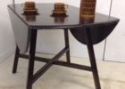 small black drop leaf dining table for small spaces