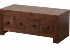 small dark wood chest coffee table