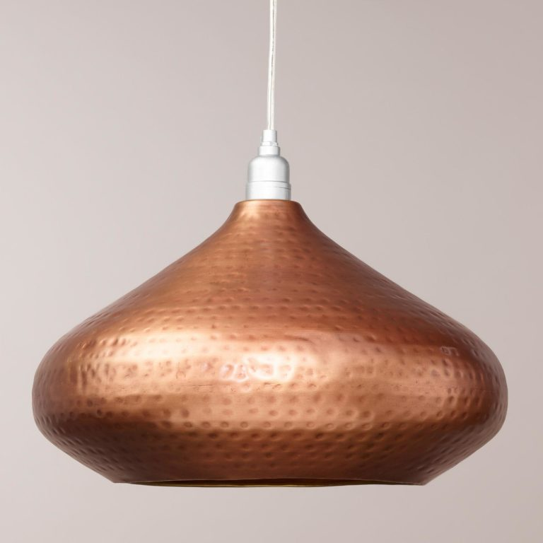 small hammered metal pendant light uk
