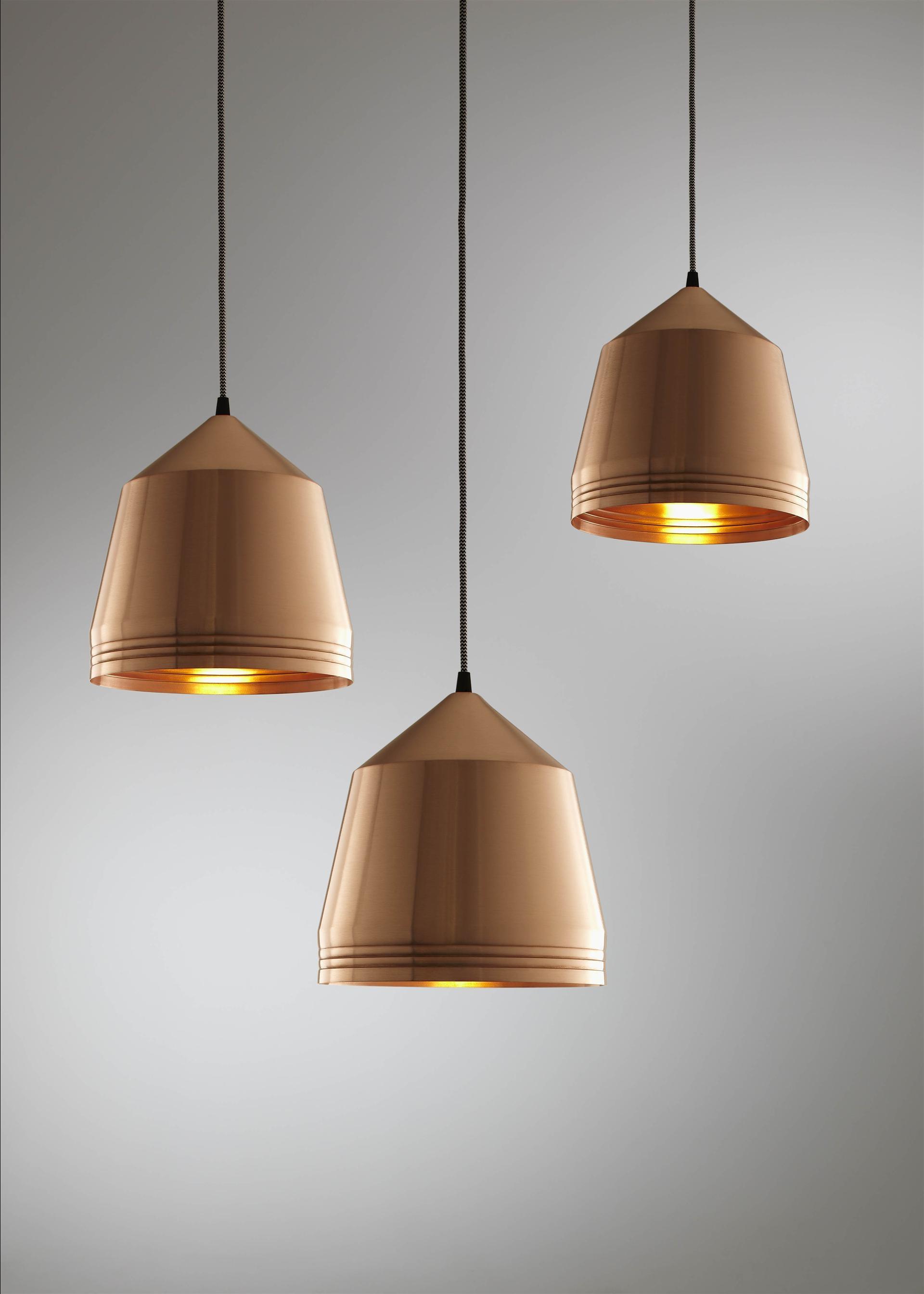 small hammered metal pendant light