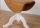small round drop leaf dining table for small spaces