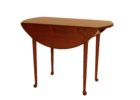 small wood round narrow dining tables with leaves