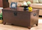 solid chest dark wood chest coffee table