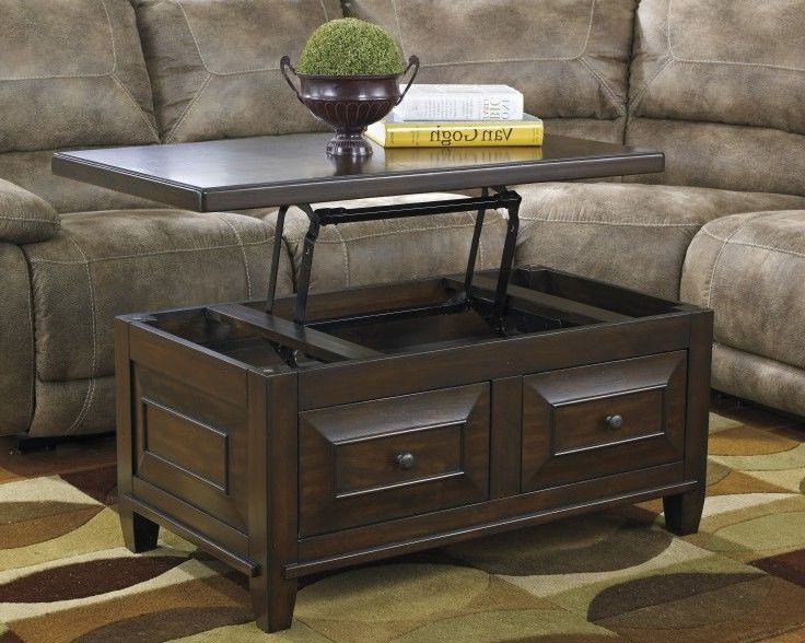 solid wood lift top coffee table for living room
