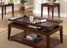 solid wood lift top coffee table set