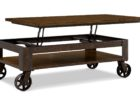 solid wood lift top coffee table with wheels