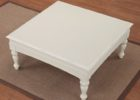 square white distressed wood coffee table for sale