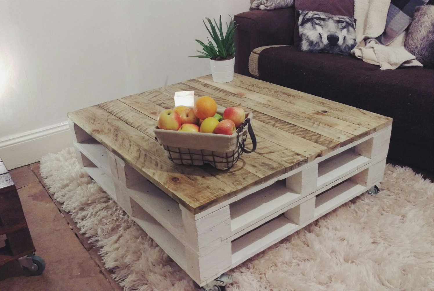 square wood pallet coffee table for sale