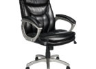 swivel black realspace fosner high back bonded leather chair