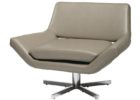 swivel grey leather smoking chair