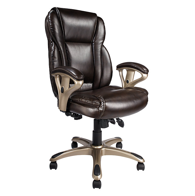 swivel realspace fosner high back bonded leather chair
