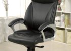 top grain leather office chair black