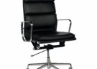 top grain leather office chair black executive