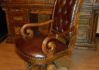 top grain leather office chair brown