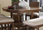 triangle dining table with bench cloth