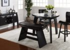 triangle dining table with bench plan