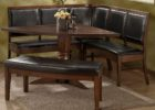 triangle dining table with bench set