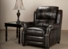 vintage black leather smoking chair set