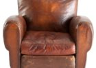 vintage brown leather smoking chair