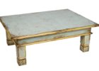 white distressed dark wood coffee table