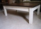 white distressed wood coffee table for living room