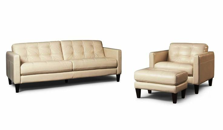white macys leather chair sets