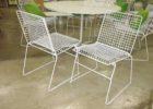 white mid century patio furniture for sale