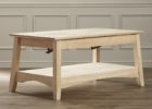 white oak solid wood lift top coffee table