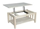 white solid wood lift top coffee table