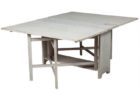 white wahsed narrow dining tables with leaves design