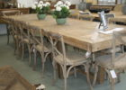 white washed extra long dining table seats 12 for sale
