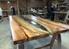 wood live edge dining table for sale