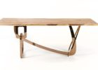 wood live edge dining table for sale with copper legs