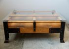 wood pallet coffee table for sale glass top