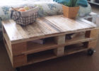 wood pallet coffee table for sale with storage and wheels