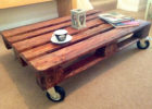 wood pallet coffee table for sale with wheels