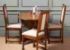 wooden drop leaf dining table for small spaces