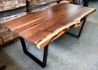 wooden live edge dining table for sale