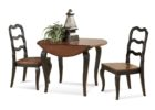 wooden round drop leaf dining table for small spaces