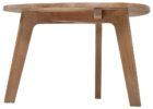 wooden triangle dining table with bench