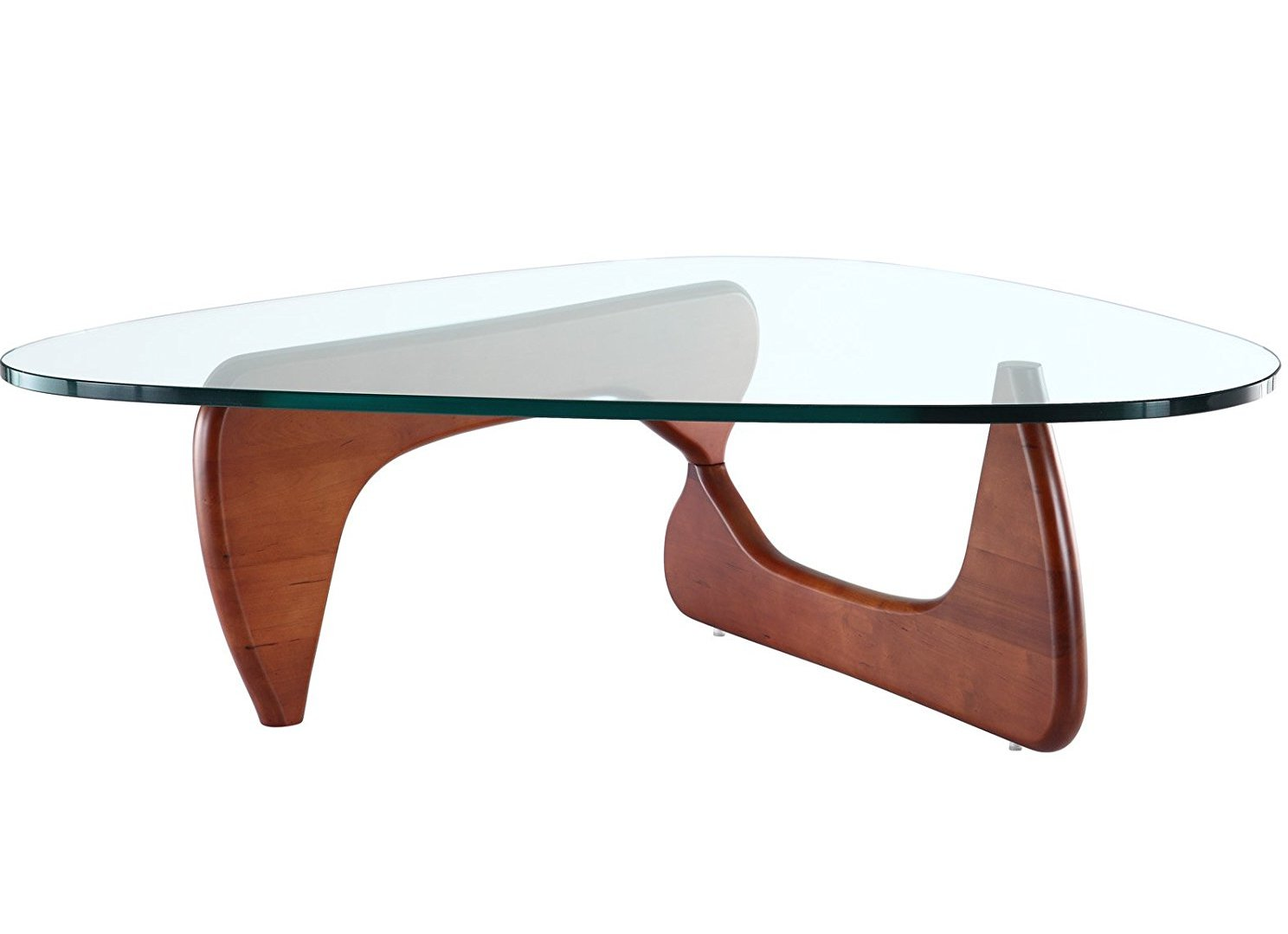 Awesome Contemporary Cherry Wood Coffee Table With Glass Top